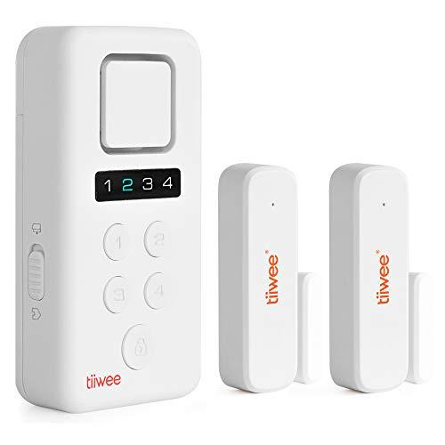 tiiwee Home Alarm System Wireless Kit X3 - Komplette Alarmanlage mit X3-Sirene, 2 Fenster- & Tür Sensoren - Fensteralarm Türalarm - Pincode Gesichert