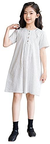 Odzież dziewcząt Dziewczyny Pasiasteddresses Girls Sukienki Duży Dzieci Letnie Spódnice Dzieci Sukienki stripes-140cm