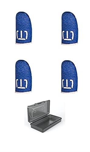 Pug Mobile Game Finger Sleeve - Funda para pantalla táctil y botones de diana sensibles al sudor y transpirables para reglas de supervivencia/cuchillos salidos para Android e iOS