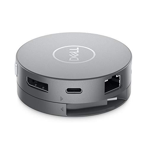 Dell DA310, 7-in-1 USB-C Adapter ( USB-C : 4K (3840 x 2160) @ 30Hz, VGA FHD (1920 x 1080) @ 60 Hz , HDMI 2.0 bis 4K@60Hz, Displayport bis zu 4K@ 60Hz, RJ45, USB-A 3.1, 3 Jahre Service) Anthrazit
