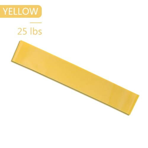 MYSdd Resistance Bands Fitness Gum Sport Yoga Elastic Exercise Band Workout Expander Rubber Fitness Loop Gym Training Equipment - Yellow