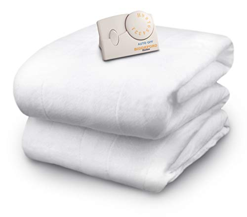 Biddeford Blankets Polyester Electric Heated Mattress Pad with Analog Controller, Full, White