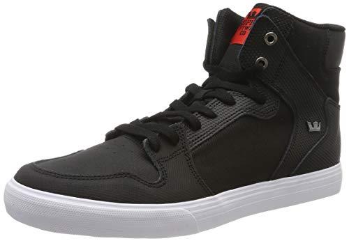 Supra Vaider Skate Shoe, Black TUF-White, 10 Regular US