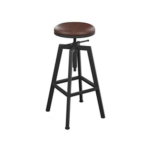 Sgabelli da Bar Sgabelli Cucina Sgabelli Alti Sgabello da bar retrò Sgabello girevole regolabile in altezza da bar per sala da pranzo da 65 Cm a 85 Cm Sgabello da Bar Sgabello da Pranzo Sedie da Bar