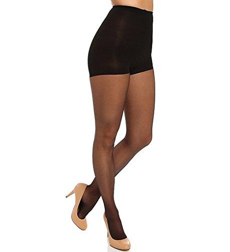 Donna Karan Hosiery Signature Ultra-Sheer Control Top Pantyhose, Medium, Black