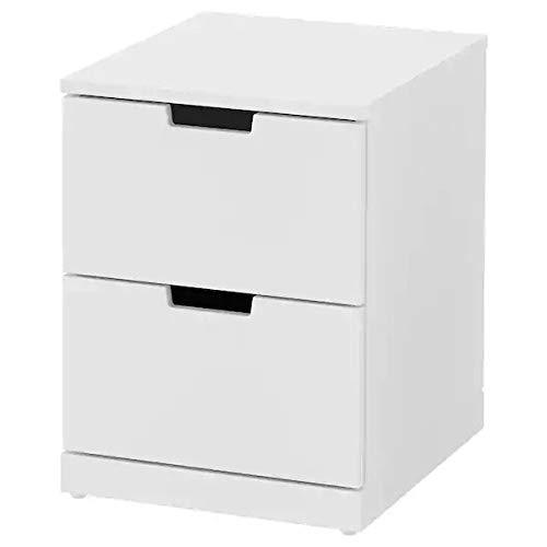 IK IKEA Nordli - Cómoda con 2 cajones, Color Blanco, 40 x 54 cm
