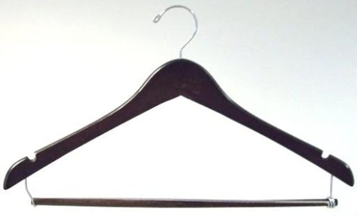 Only Hangers Walnut Finish Hanger with Locking Bar (Set of 10)
