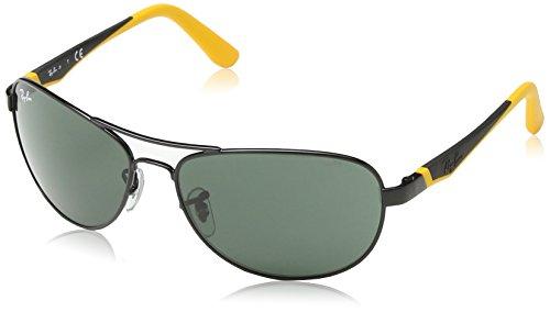 Ray Ban Junior 9534S Gafas de Sol para Hombre, Negro/Amarillo