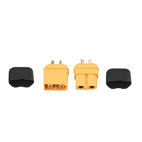 Dilwe 1 Paar XT60H-Anschlüsse XT60 + Stecker-Buchse für LiPo-Batterie RC-Zubehör