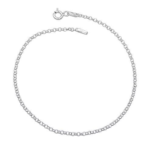 Rundanker Armband 925 Sterling Silber 1,9mm breit 19cm lang Ankerkette Silberkette Armkette