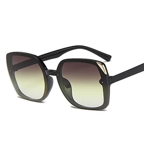 Gafas De Sol Gafas De Sol Cuadradas Oversiadas Gafas De Sol Retro Mujer Negro Gris Amarillo