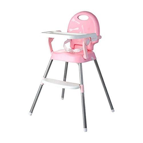 ベビー椅子 3WAY 調節可能 昇降機能付き 多機能子供チェア 折りたたみ お食事椅子 椅子に固定 携帯便利 外出 外食 高品質 お持ち便利 子供用品 0-6歳 (ピンク)
