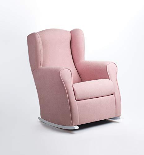 Sillón lactancia mecedora para dar el pecho, tamaño reducido (96 * 74 * 77 cm) Color rosa
