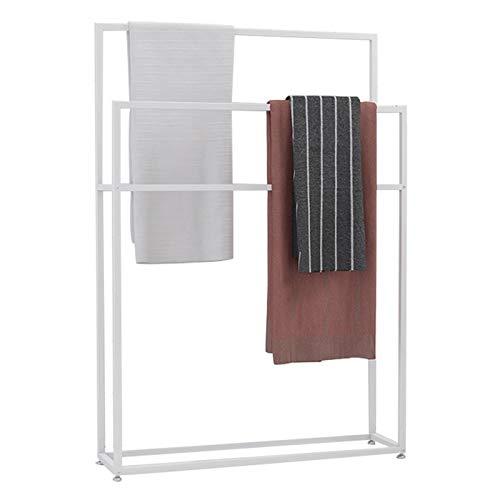 Toallero de secado independiente, 2 niveles, soporte de toalla de metal, ahorro de espacio para baño, cocina, piscina al aire libre, 85 x 20 x 110