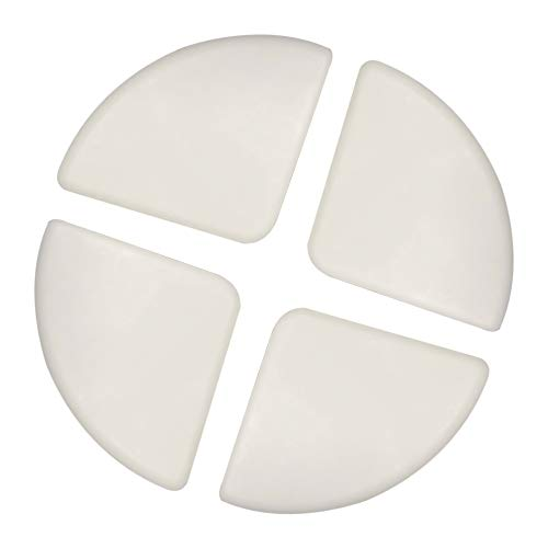 4 stuks babyveiligheid silicone tafelrandbescherming hoekbescherming afdekking anti-botsing bureau randbescherming wit