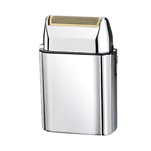 XIALIUXIA Mini Rasoir Électrique Rechargeable Portable sans Fil Corps Métal Rasoir Hommes Rasoir Ultra Mince