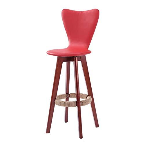 Taburetes, sillas y taburetes de bar taburete taburetes bar de madera sólida barra de estilo europeo Silla alta Silla de madera creativo Barra silla de la manera simple taburete Taburete alto WEIYV, O
