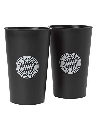 FC Bayern München 2er Set Trinkbecher Eco recyclebarem Bio-Kunststoff