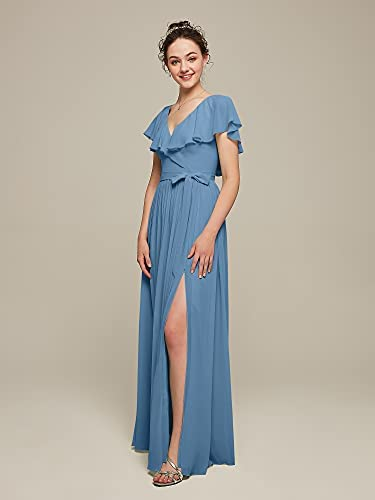 Bridesmaid dress with cape _image4