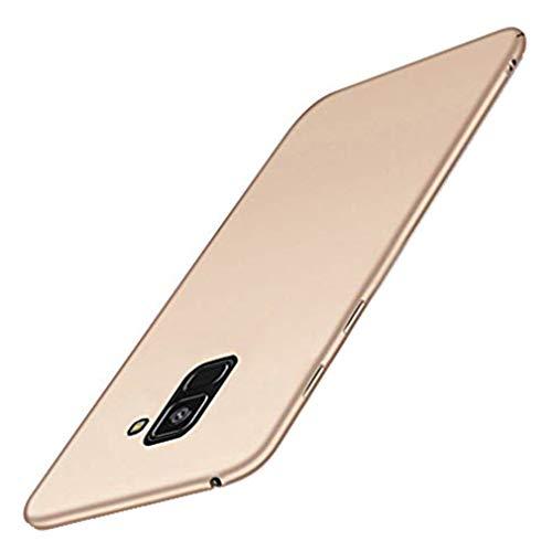 Carcasa compatible con Samsung Galaxy A8, carcasa ultrafina mate, antiarañazos, resistente al polvo, carcasa para Samsung Galaxy A8 dorado Gratis