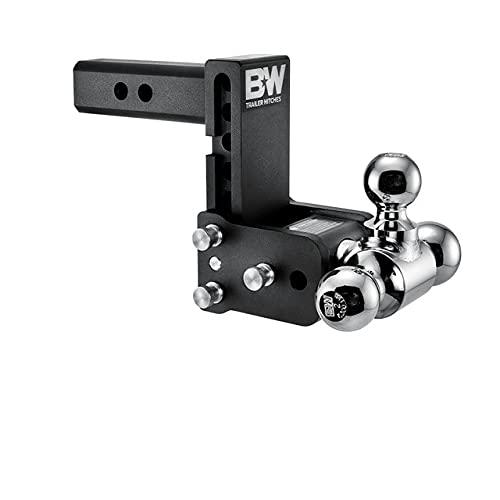 B&W Trailer Hitches Tow & Stow - Fits 2' Receiver, Tri-Ball (1-7/8' x 2' x 2-5/16'), 5' Drop, 10,000 GTW - TS10048B