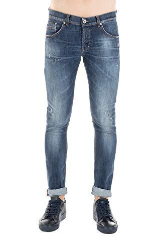 DONDUP Jeans Ritchie Skinny Fit, Chiusura Un Bottone a Vista Tre a Scomparsa, Tasche Tre Frontali Due sul Retro, Logo in Metallo sul Retro 30