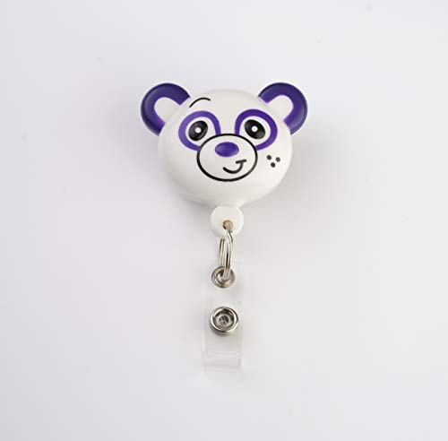 Best ID Badge Retractable Custom Animal Shape with Clip and Reel-Plastic, Key Ring and Plastic Clip for Men, Women, Doctors, Nurses, Kids Clip to Belt, Pants, Keychain, Pocket (Panda)