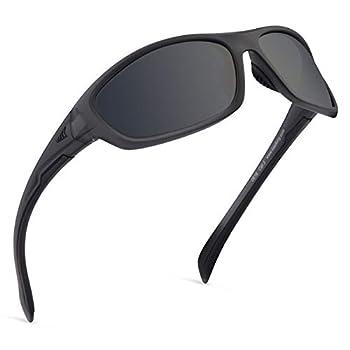 KastKing Hiwassee Polarized Sport Sunglasses for Men and Women Matte Smoke Crystal Frame,Smoke Lens