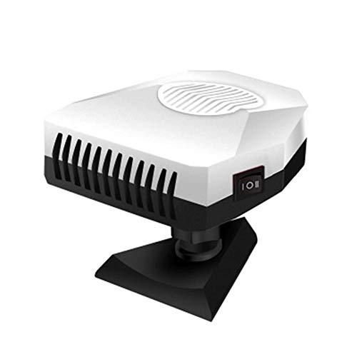 Z&LEI Calentador de automóviles, Ventilador 12V 150W Calefacción rápida y refrigeración Defogger Defogger Defraster 3 Outlet Calentador de termostato Ajustable,Blanco
