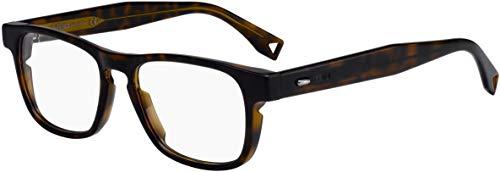 FENDI FF M0016 086 51 Gafas de sol, Marrón (Dark Havana), Hombre