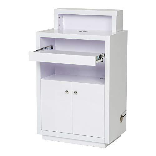 Beauty Salon Reception Desk All Purpose Reception Desk Reception Counter with Illumination Lights - Orsacchiotto -White