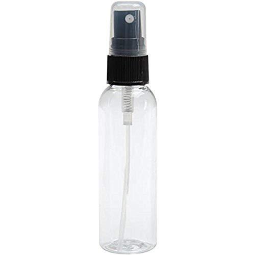 Tsukineko Fine Bottle, Sprayer and Overcap, Empty, 2.0 fl oz, Clear with Black Spray Head