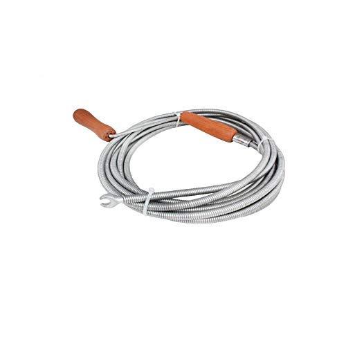 Rohrreinigungswelle Ø 9 mm x 2m - Flexible Spirale mit Kralle - Lösung für hartnäckige Verstopfungen Abflussspirale Rohr-Reinigungssspirale