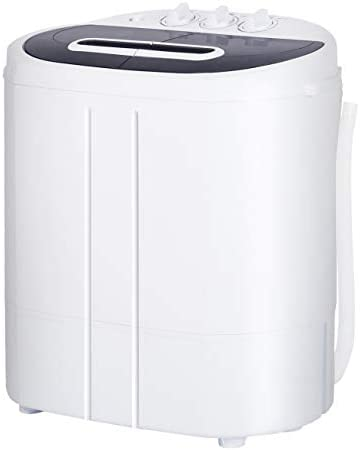 AODAILIHB Portable Mini Compact Twin Tub Washing Machine 10lbs Capacity Washer 6 6lbs Spiner product image