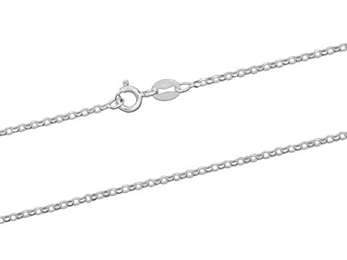 Sterling Silver Necklace Chain 1.4mm Diamond Cut Belcher Chain w/Bolt Ring 16'/40cm Length