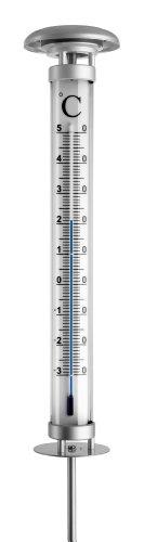 TFA Dostmann Solino analoges Gartenthermometer, 12.2057, mit Solarbeleuchtung, wetterfest