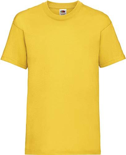 Fruit of the Loom Value Weight T 61-033-0 - T-shirt pour garçon - Jaune - 3 ans
