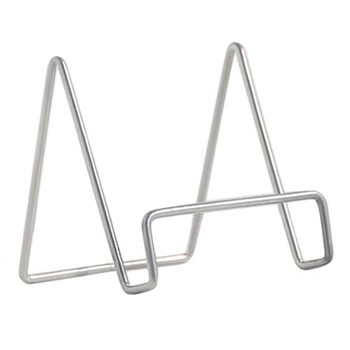 LOVIVER Telleraufsteller Metall Tellerständer Tellerhalter Displaystaffelei Bildhalter - B Grau, S