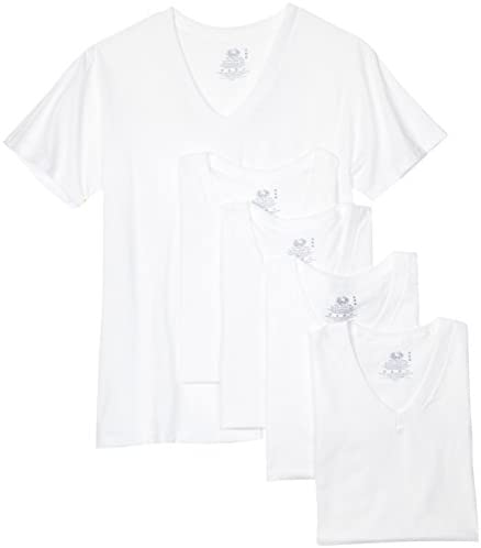 3er Pack Hombres Camiseta Cuello Pico Fruit of the Loom V-Neck Básica Hasta 5XL