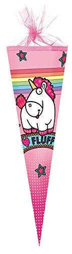 Nestler Schultüte Fluffy Minions Zuckertüte Schulanfang Einschulung Schule: Größe: 50cm rund