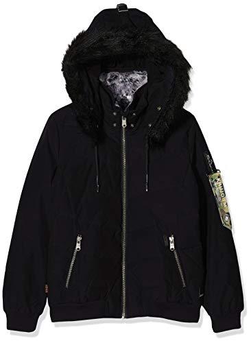 khujo Damen ADELINDE Military Puffer Jacke, Schwarz (Black 200), Large