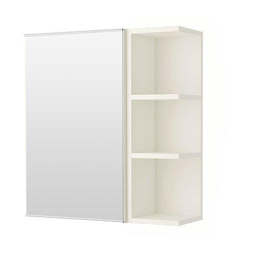 IKEA LILLANGEN -Spiegelschrank 1 Tür / 1 End-Gerät weiß - 60x21x64 cm