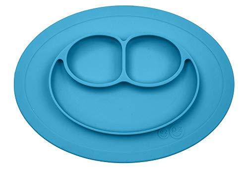 Ezpz - Plato mini mat + mantel individual silicona azul