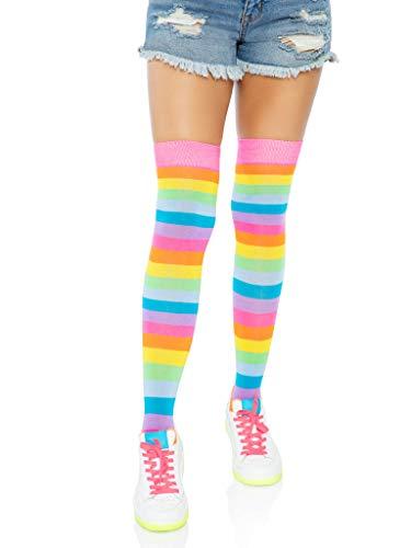 Leg Avenue Bas Chaussettes Arc-En-Ciel Multicolore Taille Unique