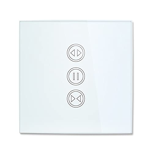 YGLONG Interruptor Persianas WiFi Interruptor de Cortina del Obturador de Rodillos WiFi para persianas eléctricas motorizadas con Control Remoto Interruptor De Cortina (Color : RF WiFi Switch)