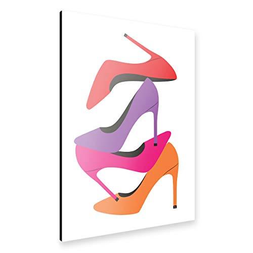 artboxONE Alu-Print 120x80 cm Bright Heels von Künstler Martina