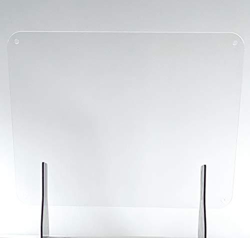 Clear Acrylic Sneeze Guard 32' x'24 Plexiglass Counter Top Desk Protection Shield