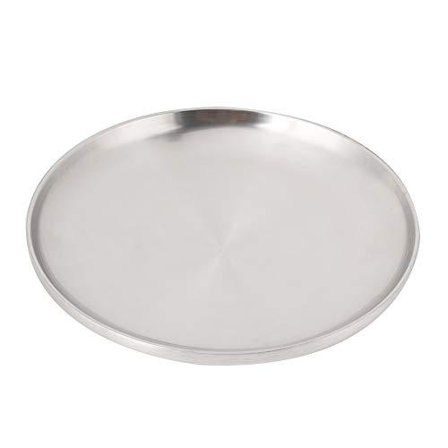 Teglia/vassoio per Pizza da 9,8 Pollici, Vassoio da Portata Rotondo in Acciaio Inossidabile Piatto per Dolci da Forno in Argento Piatti in Alluminio