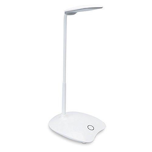 INLIFE Lámpara LED de Escritorio, Lámpara LED de Mesa, 3 Niveles de Luz Ajustables, Ángulo Ajustable, Protección para los ojos, Conveniente para los Niños, para Leer, Trabajar, Escrib