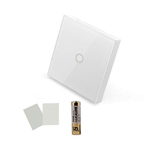 SONOFF Wifi Smart Touch Switch, 1 gruppo senza fili Interruttore a muro in vetro a distanza RF Pannello a parete Supporta tutti i prodotti SONOFF RF 433MHz, Stick on Anywhere